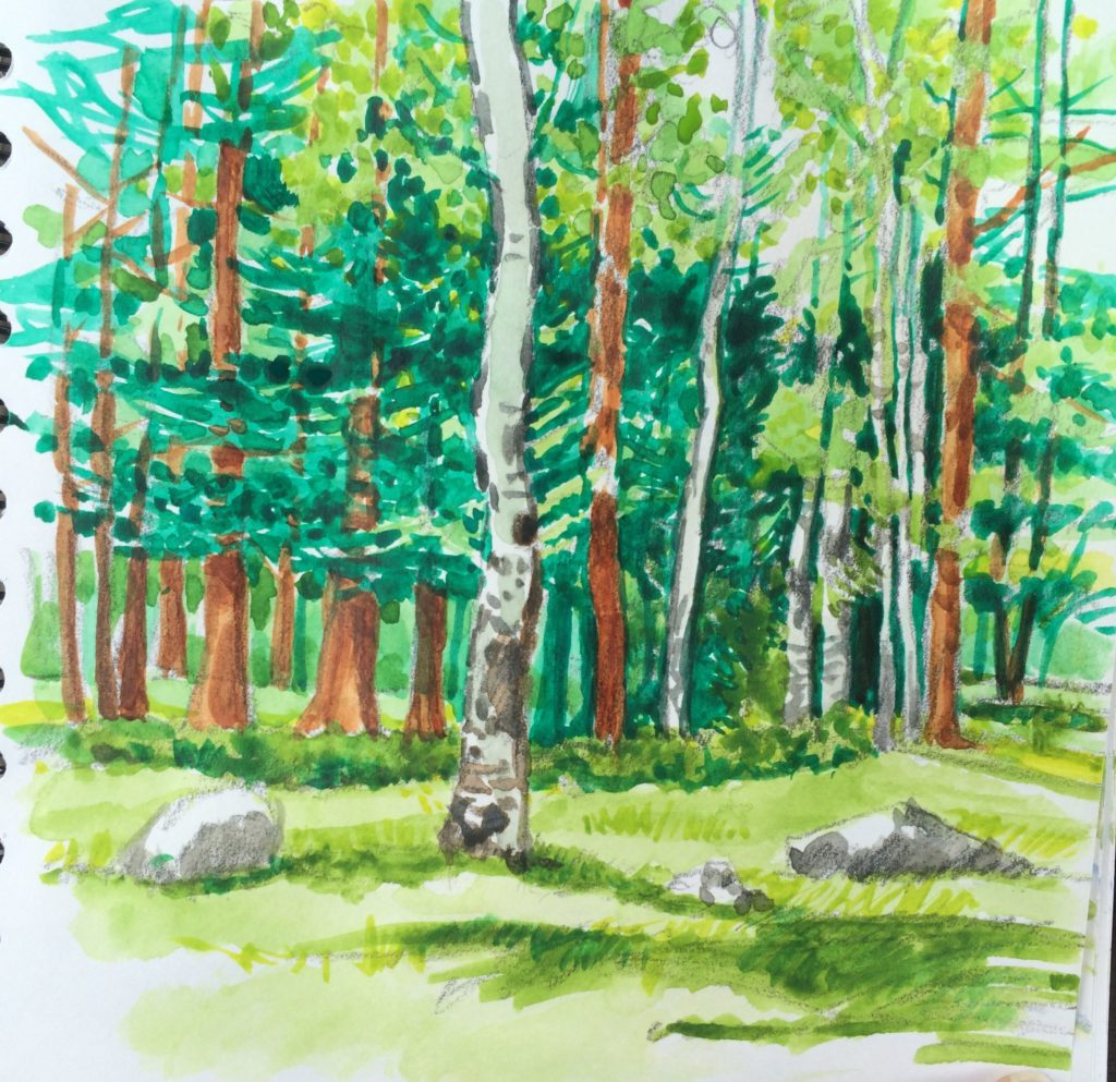 Estes Park watercolor
